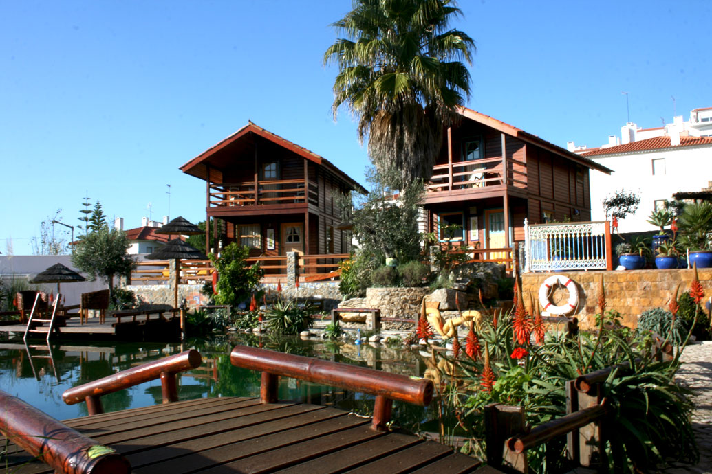 pool and chalets
