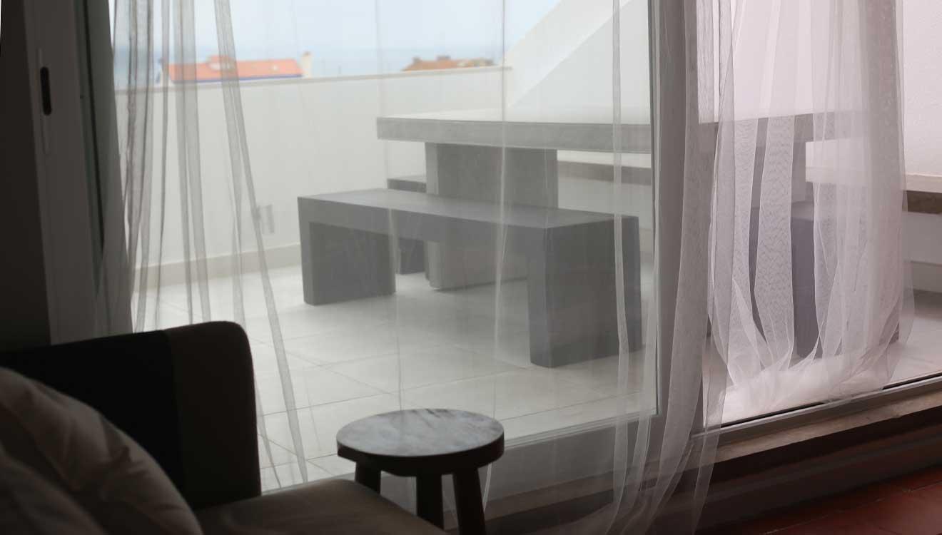 living room, terrace - detail