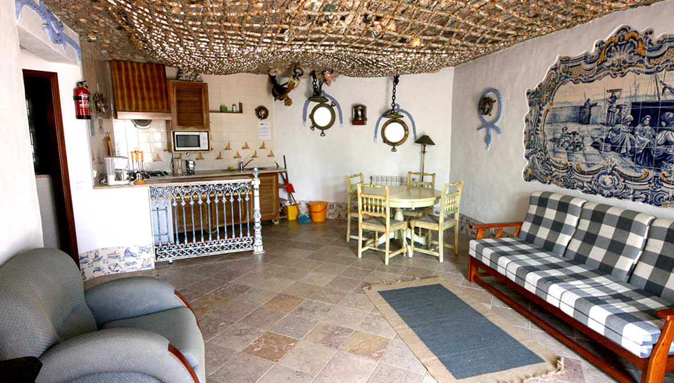 one of the villas - livingroom