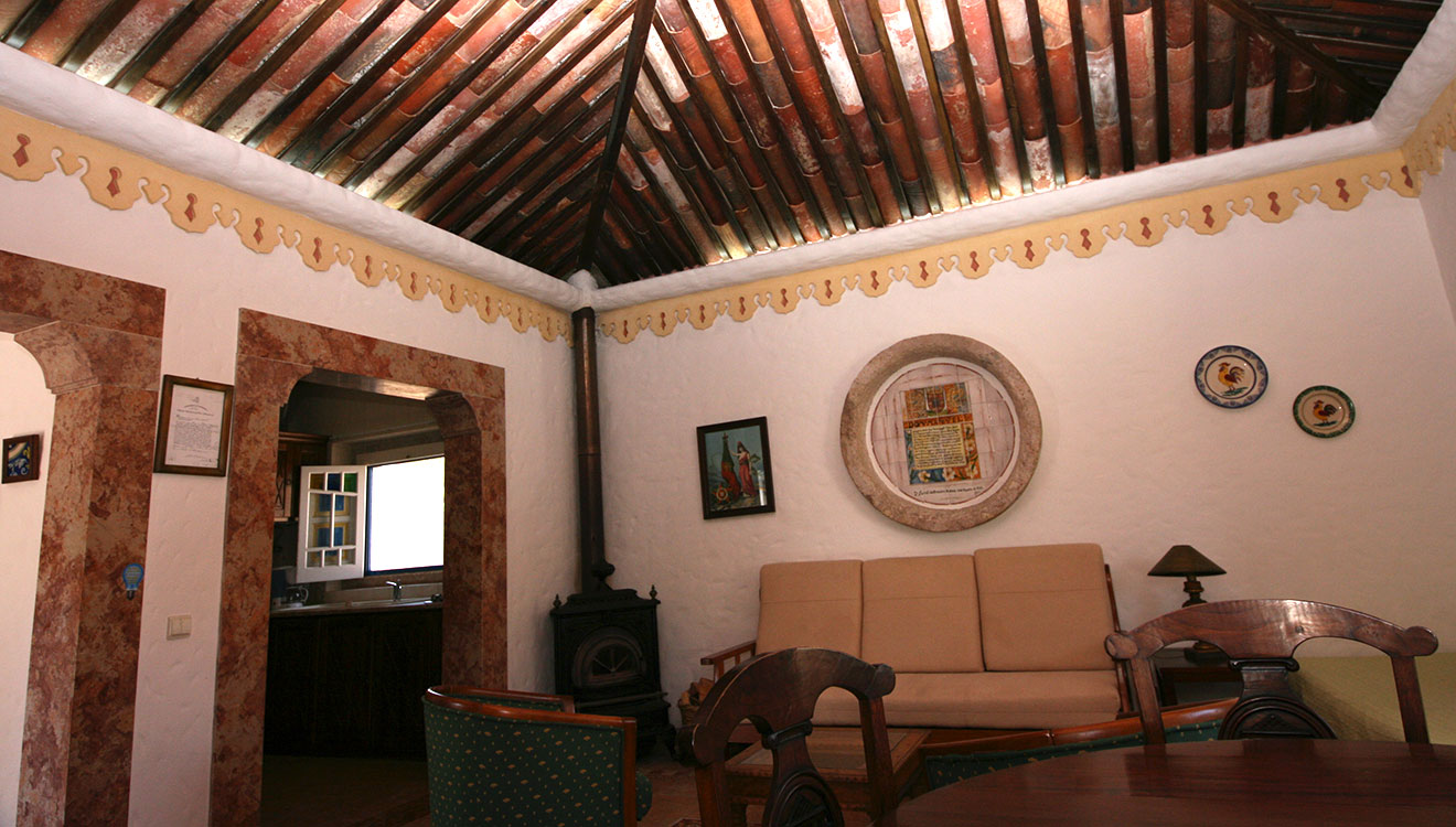 one of the courtyard villas - living room