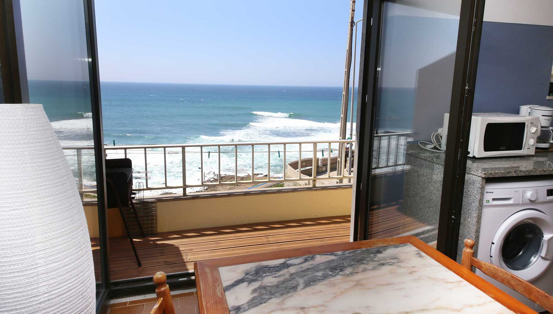 the new panorama window and outside deck